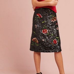 NWT Anthropologie Garden Glitz Skirt